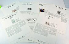 FRANCE. Special Luxury philatelic pages dedicated stamps issued in France 1986.