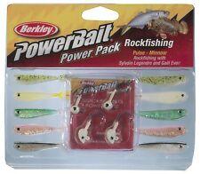 "Power Bait ROCKFISHING Berkley 2"" 5 cm flat tails minnow silicone 1210496 jig"
