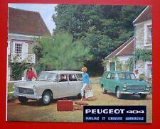 PEUGEOT 404 1964 Familiale  Brochure Prospekt Catalogue Dépliant