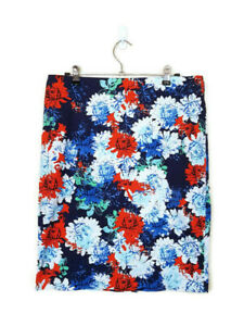 SUSSAN Womens Floral Navy Red White Green Mini Casual Skirt - Size 12