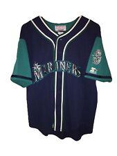 Vintage 90's Starter Seattle Mariners Jersey Stitched Size Medium