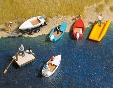OO/HO petit bateaux ensemble (6 pièces) pour à l'eau paysage - Busch 1157 - F1