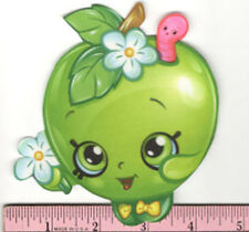 SHOPKINS APPLE BLOSSOM fabric iron-on applique NO SEW grocery pal