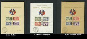 """Luxemburg 343 - 346, Sonderblatt zur Befreiung """"LIBERTATION""""; auswählen #c717"""