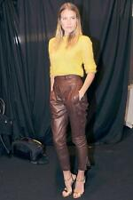 Ermanno Scervino Leather Pants Pantaloni UK8 IT40 Nuovo Leggings Vestito