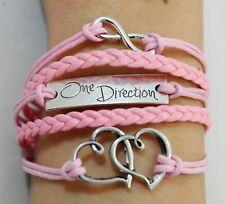 ONE Direction 1D batte Bracciale rosa con 5 batte