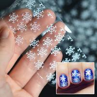 Holographic Holo Nail Foils Snowflake Christmas Nail Art Transfer Sticker HC