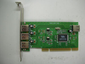 VIA VT6212L USB 2.0 Host Card 3+1 Puertos Controller Adaptador PCI
