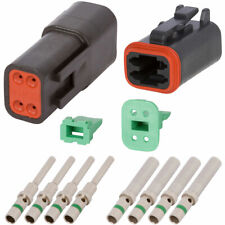 DT Enhanced Seal 4 Pin Black Connector Kit w/ 14 AWG Solid Contacts