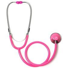 Hot Pink Single Head Stethoscope with  Flamingo
