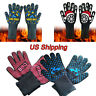 932°F Silicone Extreme Heat Resistant Cooking Oven Mitt BBQ Hot Grilling Glove