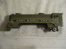 MARX 500  O Scale Electric ARMY SUPPLY TRAIN Military TIN TOY Shell only