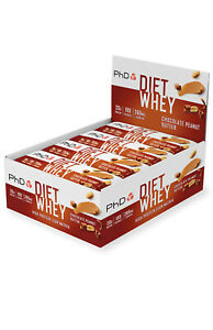 PhD Diet Whey Protein Bars (12 x 65g) - Various Flavours