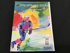 1996 NHL All Star Magazine January 19-20, 1996 Played in Boston