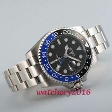 Bliger 43mm black dial date Sapphire GLass GMT Automatic Movement men's Watches