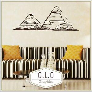 Egyptian Pyramids Wall Sticker Egypt Vinyl Transfer Home Decor Art Decal Graphic