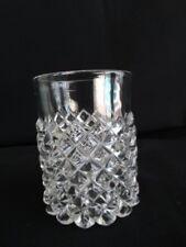 Rare EAPG US Glass Clear Roanoke (AKA Sawtooth)  9 oz Flat Tumbler Circa 1888