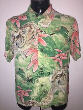 Men's Sun Surf toyo 100%rayon crepe Hawaiian shirt tiger small