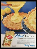 1956 Betty Crocker Homogenized Pie Crust Mix Vintage Print Ad