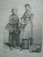 Gravure Louis-Léopold Boilly La veilleuse estampe XIXème siècle signée