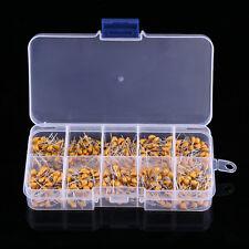 500PCS 10 Value 50V 0.1uF~10uF Electronic Ceramic Capacitor Assorted Kit w/ Box
