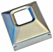 68-72 Factory GM Front Rear DELUXE Large Lap Seat Belt Buckle Cover Chrome Plate