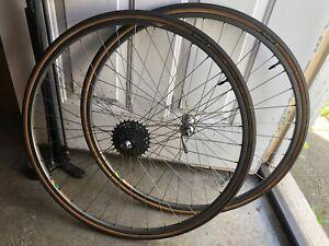 Campagnolo Record Wheelset Clincher rims Vintage Saturne HC19 English Freewheel