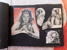 VINTAGE 1940's MOVIE STAR ORIGNAL CUTTINGS SCRAPBOOK ANN SHERIDAN BETTY GRABLE M
