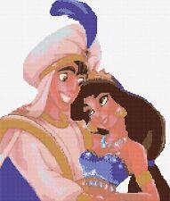 "Aladdin & Jasmine Counted Cross Stitch Kit  11"" x 13"" Disney"