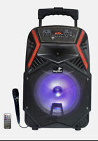 "Bluetooth speaker portable ,8""+1 Tweeter SkyCube 5000W P.M.P.O Rechargeable Fm"