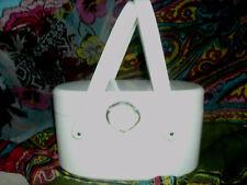 WILARDY lucite white purse double handle vintage rare  plastic oval unique