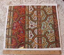 Antique French Indienne Hand Blocked Textile Design On Paper c1840-1860