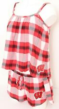 NEW Wisconsin Badgers Concepts Sport Red Tank Shorts 2-Piece Pajamas Women's M