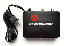RF Modulator TV Switch Audio Video RCA Ant Input to F Type Coax Output Converter