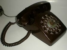 PHONE NORTHERN TELECOM NORTEL DIAL VINTAGE RARE BROWN TESTED TABLETOP TELEPHONE