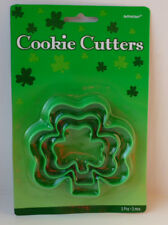 St Patricks Day Shamrock Shape Cookie Biscuit Cutters - 3 Pack Baking accessory