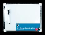 Hogar Oficina Escuela Pequeño Seco Borrador Whiteboard Con Pluma & Imanes Para