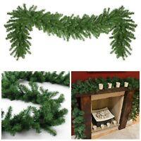 Xmas Artificial Pine Green Spruce Christmas Garland - 2.7 meters - 9ft x 28cm UK