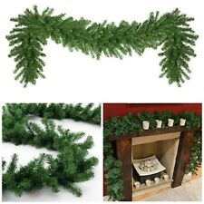 Artificial Pine GREEN Spruce Christmas Garland - 2.7 meters / 9ft x 28cm XMAS