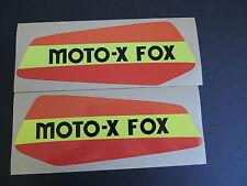 1978 SUZUKI RM 125 MOTO X FOX Gas Tank Decal Set. AHRMA VINTAGE MOTOCROSS