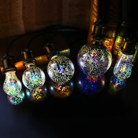 3D Fireworks E27 G80/G95/G125 LED Retro Vintage Edison Fairy Lighting Bulb Lamp