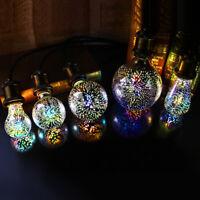 3D Fireworks E27 G80/G95/G125 LED Retro Vintage Edison Fairy Lighting Bulb