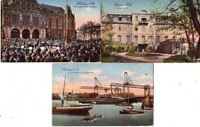 POSTCARDS....  Germany 1916  x3 scenes used with stamps cancelled HAMBURG