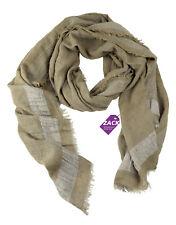 CODELLO Damen Schal Tuch Scarf Winter Essentials 62086801COL15 Braun Taupe Lurex