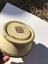 New listing Vintage Tin Lid Celtic Pattern 4 1/2 inch