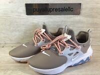 Women's Nike React Presto Pumice/White/Coral Stardust CD9015-201 Size 7.5