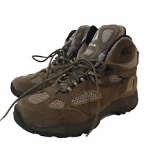 Vasque Youth Size 4 Boots Hiking Breeze Waterproof Tan Suede Textile Outdoor