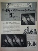 1950 Elgin Watch Deluxe Youth Series DuraPower Youth Panel Lauds Original Ad