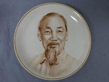 Lomonosov Porcelain Russian Communist Proganda Plate Ho Chi Minh Vietnam