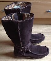 Timberland Brown Suede Leather Mid-Calf Boots Ladies Women's UK 5.5 (EU 38.5)
